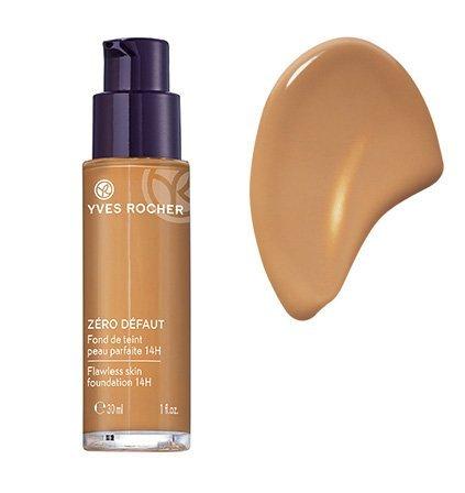 Yves Rocher COULEURS NATURE Make-up-Fluid PERFEKTE HAUT 14h Doré teint clair, deckende Foundation, 1 x Glas Pump-Flacon 30 ml