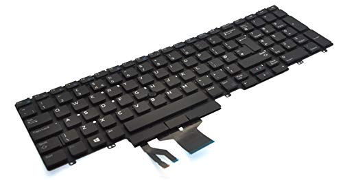 Dell UK English QWERTY Non-Backlit Keyboard for Precision 7530 7540 7730 FMW35