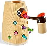 TOP BRIGHT Magnetisches Spielzeug Kinder Spiel ab 2 Jahre, Wurm Fangen Spiel Montessori Spielzeug, Lernspielzeug ab 2 3 4 Jahren Jungen und Mädchen Geschenke