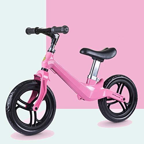 DFSSD Balance Fahrrad, Kinder Balance Bike 2-6 Jahre alt männliche und weibliche Kinder, die 12-Zoll-Scooter ohne Pedal Toy Bike,Rosa