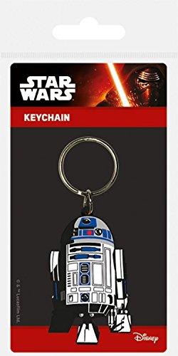 1art1 Star Wars, Episodio VIII, Gli Ultimi Jedi, Droide R2-D2, Gomma Portachiave (6x4 cm) E 1 Sticker Sorpresa