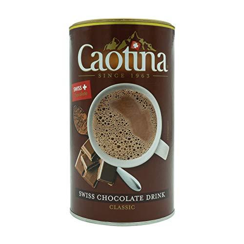 Caotina original Cacao en Polvo de Chocolate Suizo, Bebida de Chocolate Caliente, Bote, 500 g
