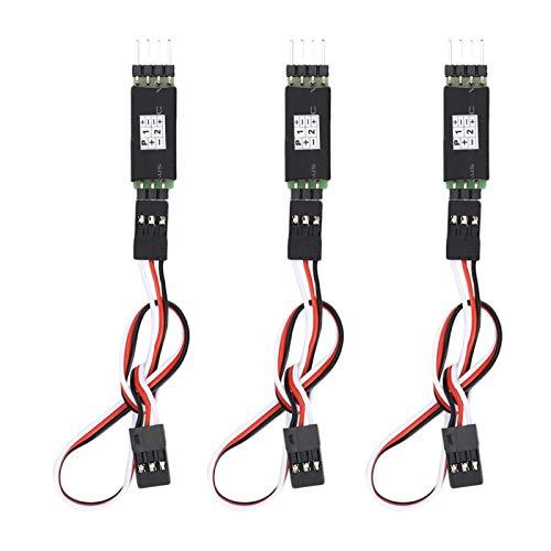 Interruptor de tercer canal, cable receptor de luz de coche de control remoto de 3 piezas, interruptores de encendido / apagado de 3 vías, interruptor de controlador RC, accesorios de coche RC