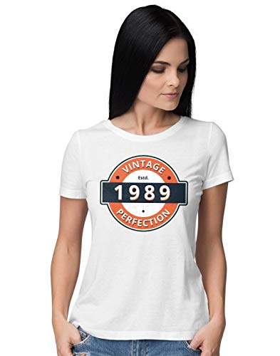 BLAK TEE Mujer Vintage Perfection 30th 1989 Birthday Camiseta S
