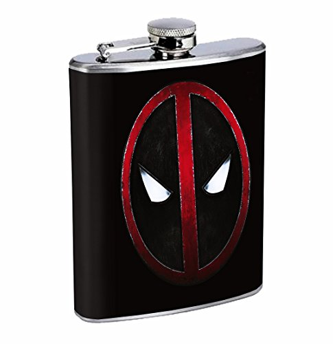 deadpool logo mask flask