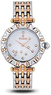 Sunex watch for women, analog, stainless steel, rose gold, white dial, S0387RGW
