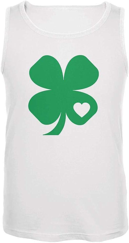 Old Glory St. Patricks Day Shamrock Heart Mens Tank Top