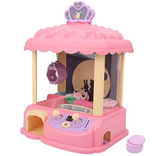Claw Arcade Game Machine,Mini Claw Coin Operated Doll Grabber Doll Grabber Machine,Sistema inteligente con música e iluminación,para niños Incluye 6 mini premios/regalo (rosa)(1#)