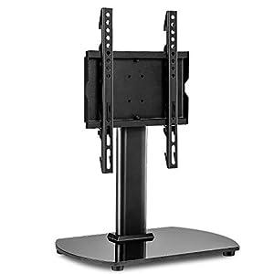 RFIVER Soporte Universal de TV de Mesa para Television de 20 a 40 Pulgadas con Giratorio y Altura Ajustable UT2003