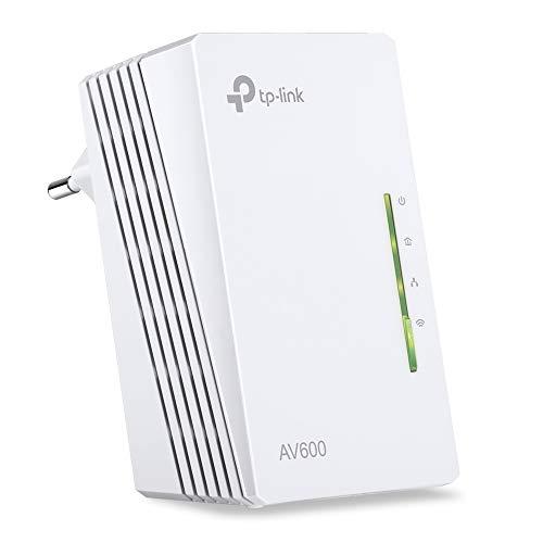 TP-Link TL-WPA4220 Powerline AV600 WiFi Extender, 300 Mbps, 2.4GHz, 2 Porte Ethernet, Plug and Play, WiFi Clone, Bianco