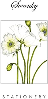 S.E. Hagarman G-32 Hand Embellished Greeting Cards44; Ivory Poppy - 8 Cards and Envelopes