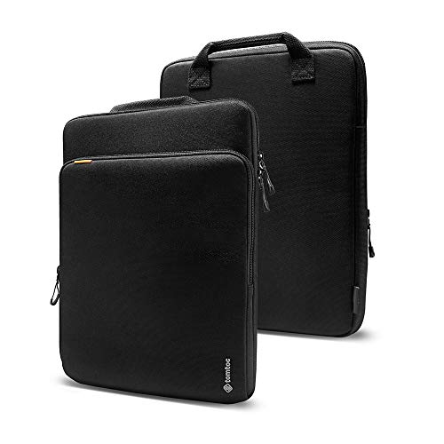 tomtoc Cordura Laptop Hülle Tasche für 13,5 Zoll Microsoft Surface Book 3/2/1, Surface Laptop 3/2/1, Premium Wasserdicht Notebook Schutzhülle Tasche mit Handgriff & Organisierte Fronttasche für Zubehör