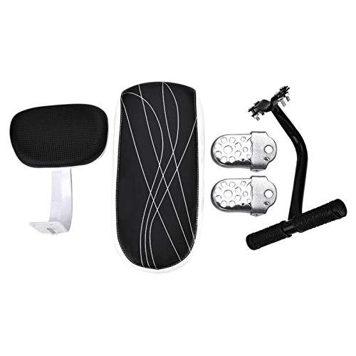 Roberee Fahrradrücksitz-Fahrrad Fahrrad Kindersitz Rücksitzkissen Rückenlehne Armlehne Fußstütze Set ZubehörBike Rücksitzkissen
