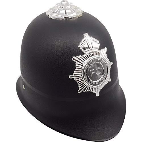 German Trendseller® - 6 x Sergeant Hut - Deluxe ┃ Britischer Polizist ┃ Fasching ┃ Karneval ┃ Bobby Custodian Hut ┃ 6 Polizeihüte