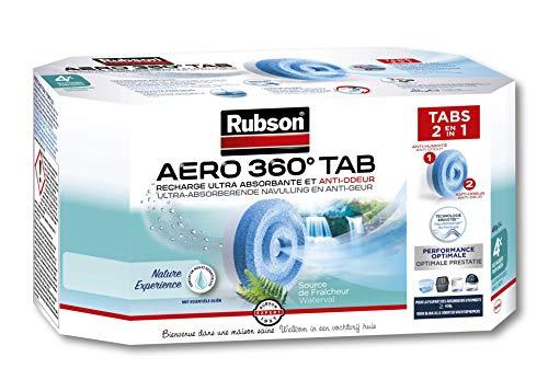 Rubson AERO 360° Recharges en tabs parfum source de fraîcheur, recharges pour absorbeur d