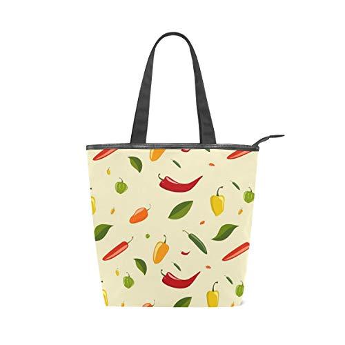 LUPINZ Mädchen-Handtasche mit Chili-Muster