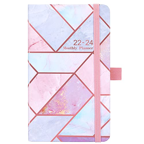 2022-2024 Monthly Pocket Planner/Calendar - Three Year Monthly Pocket Planner 2022-2024, 36 Months from Jan 2022 - Dec 2024, 6.3 inch x 3.8 inch, Pen Loop, 2 Book Marks, Back Pocket, 61 Notes Pages