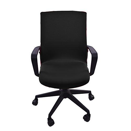 Yunt Elastische Stuhlhussen Set, Bürostühle Bezug Stretche Moderne Stuhl Überzug, Chair Cover Protector für Büro Zuhause