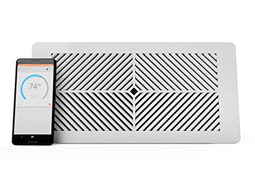 "Flair Smart Vent, Smart Vent for Home Heating and Cooling. Compatible with Alexa, Works with ecobee, Honeywell Smart thermostats, and Google Assistant. Requires Flair Puck. (4"" x 12"")"