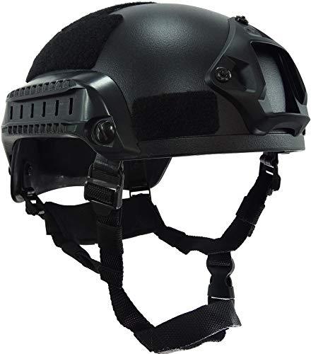 haoYK MICH 2001 Style Tactical Airsoft Paintball Helm mit NVG-Halterung und Seitenschiene für Airsoft Paintball