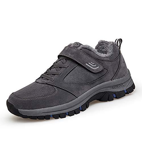 [ZUBOK] スニーカー メンズ レディース 介護シューズ 高齢者シューズ 安全靴 マジックテープ 外反母趾 通気性 柔軟性 メッシュ 中高齢者靴 (24.5cm, グレーブルー(コットン))