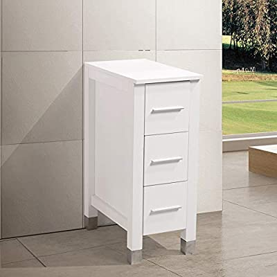 "KINGRAN 24""36""/48""/60"" Modern Bathroom Vanity MDF Cabinet Combo with Ceramic Vessel Sink with Faucet and Pop Up Drain Set,Mirror Included,White Color"