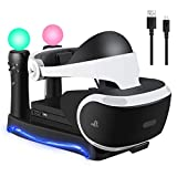 SN-RIGGOR Charging Station Display Stand Docking Station and Processor Unit for PS Move Showcase Storage Stand Holder for PSVR II PS4 VR II PS VR Headset CUH-ZVR2 2th Generation