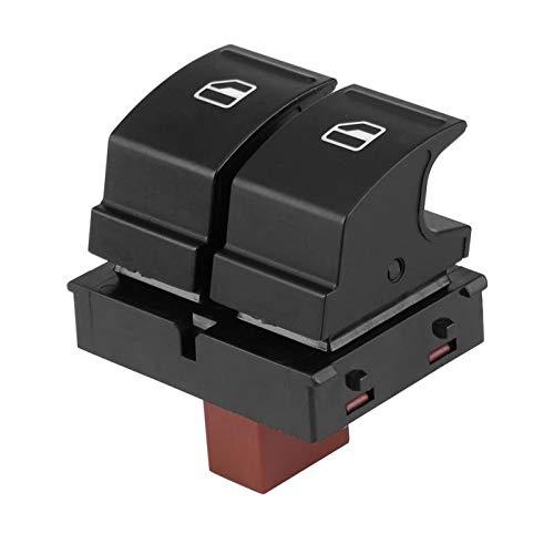 BotóN De Interruptor De Coche 1PCs la Ventana de energía eléctrica Control de botón de Interruptor/Ajuste for Skoda/Ajuste for Octavia/Fabia en Forma for el (Color : Black)