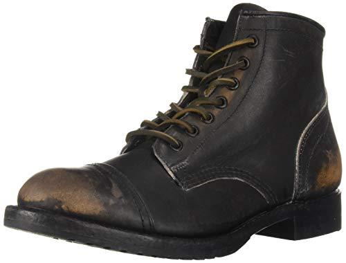 FRYE Herren Logan Cap Toe modischer Stiefel, schwarz, 47 EU
