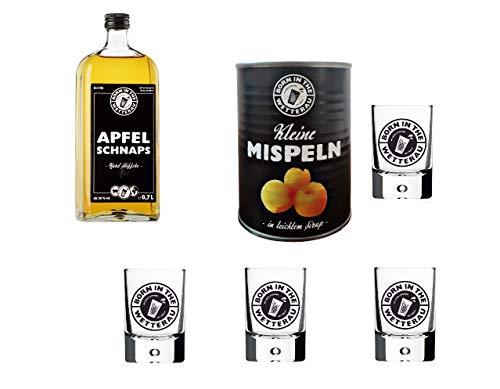 Born in the Wetterau 1 x Mispeln 4 x Glas 4cl 1 x Schnaps 0,7 Liter