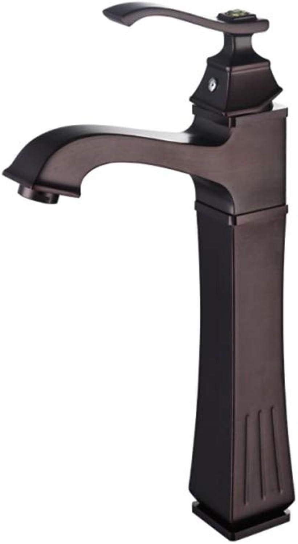 Xinsheng Waschbecken Wasserhahn Massivem Messing Franzsisch Gebürstet Warmen Und Kalten Waschbecken Mischbatterien Einzigen Handgriff EIN Loch Waschtisch Mischbatterie Mit Schlauch