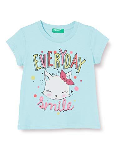 United Colors of Benetton Baby-Mädchen T-Shirt Pullunder, Türkis (Aqua Splash 0z8), 80/86 (Herstellergröße: 1y)