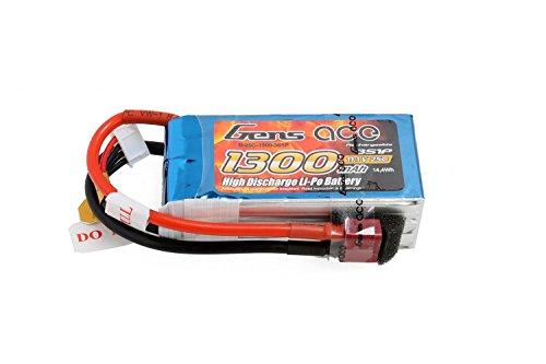 Gens ace LiPo Batterie 1300mAh 11.1V 25C 3S pour RC Car Hélicoptères Avion Truck