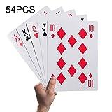 Spielkarten-Stütze 54Pcs 1 Paar Große Dekorative Dauerhafte Riesige Poker-Stütze für Party- und Spielspaß für Alle Altersgruppen - 20 * 28 cm
