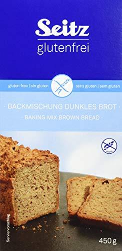 Seitz glutenfrei Backmischung dunkles Brot, 6er Pack (6 x 450 g)