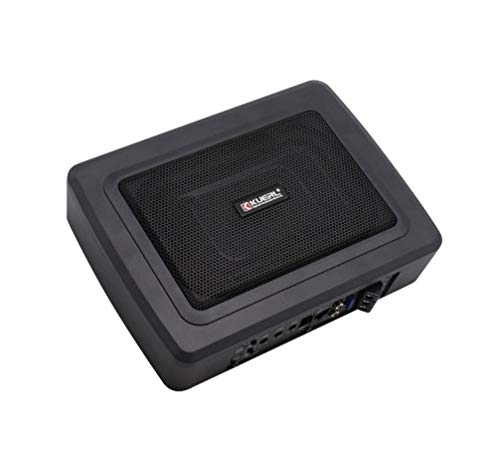 LUFEI 600W Auto Ultra-Thin-Aluminum Subwoofer High-Power 12V Active Audio installiert unter dem Co-Pilot Seat