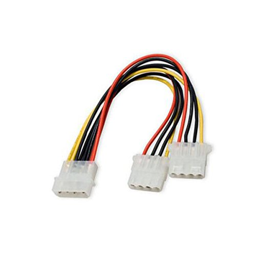 Aiyide 2 Pack Computer Molex 4 Pin Power Supply Y Splitter Cable - 2 Female to 1 Male Internal Power Extension Cable