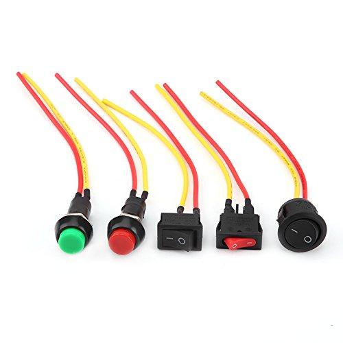 Keenso SPST Lot de 5 interrupteurs à bascule universels pour moto Marche/arrêt