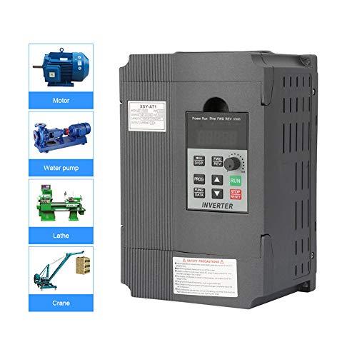 Variador de Frecuencia,VFD 220V 1.5KW,Convertidor de Frecuencia Monofásico a Trifásico,Controlador de Velocidad para Lograr Alto Momento de Fuerza,Alta Precisión y Amplio Rango de Regulación