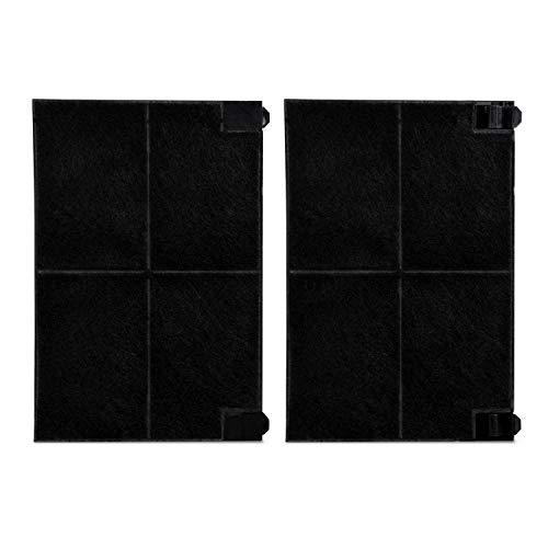 Kohlefilter 2x Filter Ersatz für Electrolux AEG 902980062-1 9029800621 MCFE16 EFF55 225x155mm für Dunstabzugshaube von Alno Juno Küppersbusch Faber/Franke