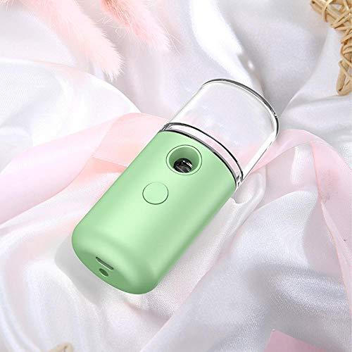 Nano Moisturizing Spray,Usb Rechargeable Nano Hydratant Dispositif Beauté Humidificateur Portable Facial Spray green