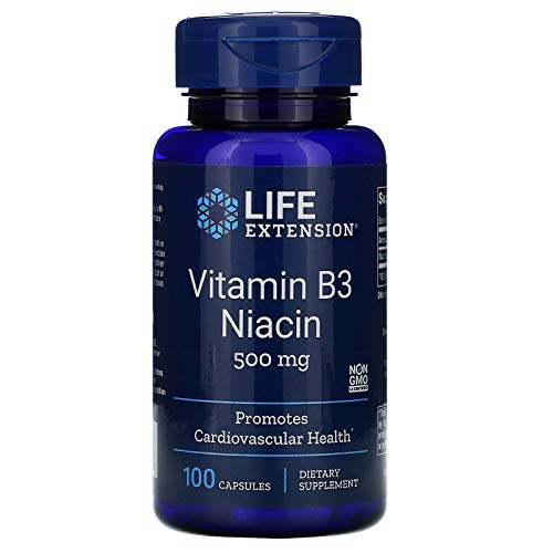 Life Extension Vitamin B3 Niacin, 100 caps 500 MG
