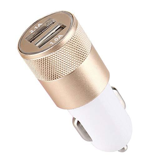 El Cargador del Coche, 5V 2.1A Se Dobla El Zócalo Rápido De Cigarett-e del Adaptador del Cargador del Teléfono del Coche De Los Puertos USB QC3.0 Color Aleatorio