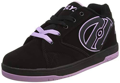 HeelysPropel 2.0 770516 - Sneakers da ragazza, Multicolore (Black/Lilac), 36.5 EU