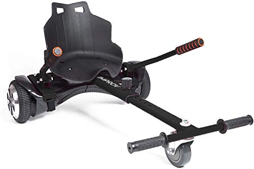 Improv HOVERKART - Go Kart Adjustable Hoverkart Seat For Electric Self Balancing Scooters with 2 sets of straps - Fits All Hover Board Sizes - 6.5', 8' and 10' (Black)