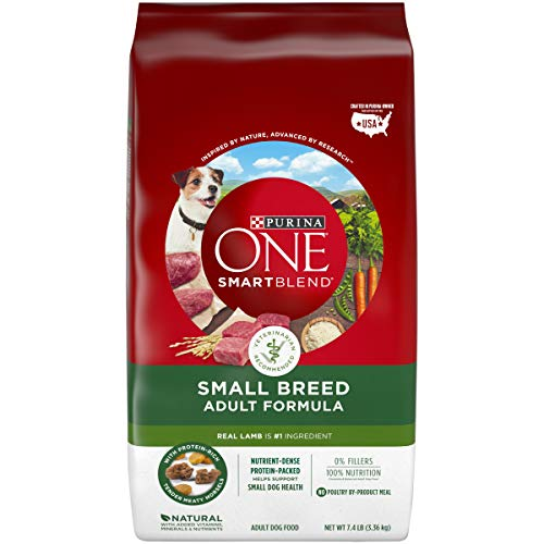 Purina ONE Natural Small Breed Dry Dog Food, SmartBlend Lamb & Rice Formula - 7.4 lb. Bag