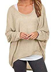 ❤【 Attention 】: Package Include ONLY 1 Top (Except the Vest Top). ❤【 Features 】: Round Neck Pullover Batwing Blouse Shirt,Long Sleeve,Tunic Jumper,Solid Cloor,Plus Size,Loose, Baggy, Oversized Tunic Tops,Hide Your Belly, Make You Look Slim.Ideal To P...