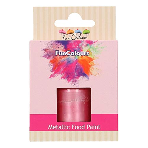 FunCakes FunColours Metallic Food Paint Baby Pink 30ml