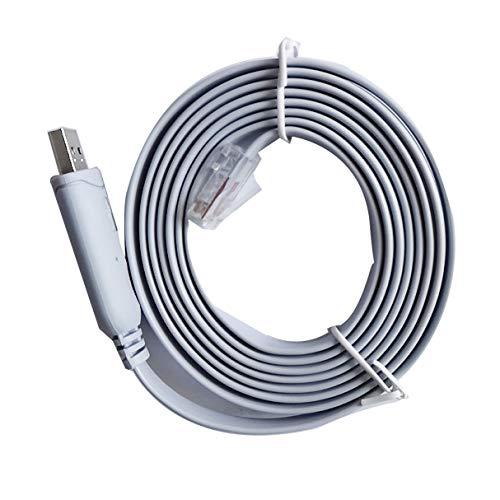 Morninganswer Cable Adaptador de Consola USB a RS232 Serie a RJ45 CAT5 para enrutadores Cisco FTDI