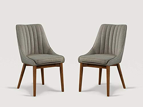 LuXeo Essential LUE-4236586-2 Dining Chairs, Set of 2, Gray